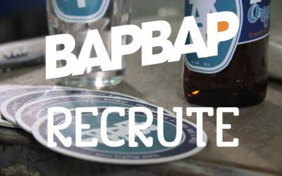 BAPBAP Recrute : Stages & CDI